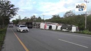 شاهد : لحظة انقلاب شاحنة في تايلاند تُنقل 6 مركبات تويوتا هايلكس 2016