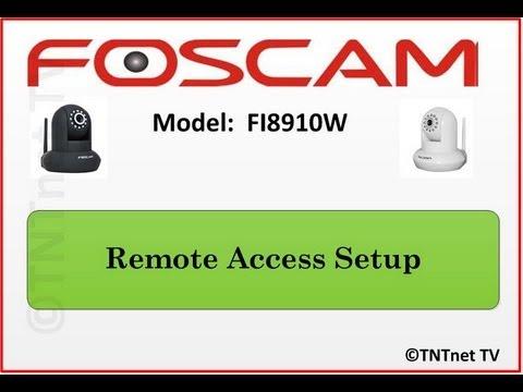 QUICK & EASY STEPS - How To Setup Foscam (FI8910W) REMOTE ACCESS - Surveillance Camera HD