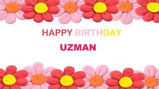 Uzman  Birthday Postcards  - Happy Birthday  UZMAN