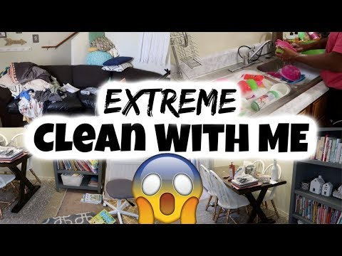 EXTREME Clean With Me/ Cleaning My Messy House / Cleaning Motivation / Speed Cleaning /
