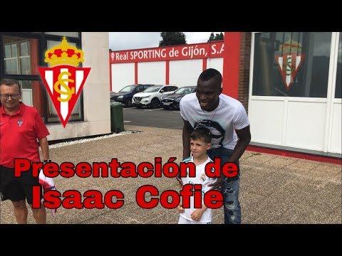 Presentación de Isaac Cofie como jugador del Sporting.