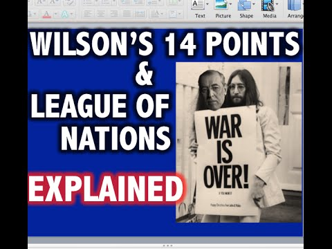 Wilson's 14 Points & League of Nations Explained