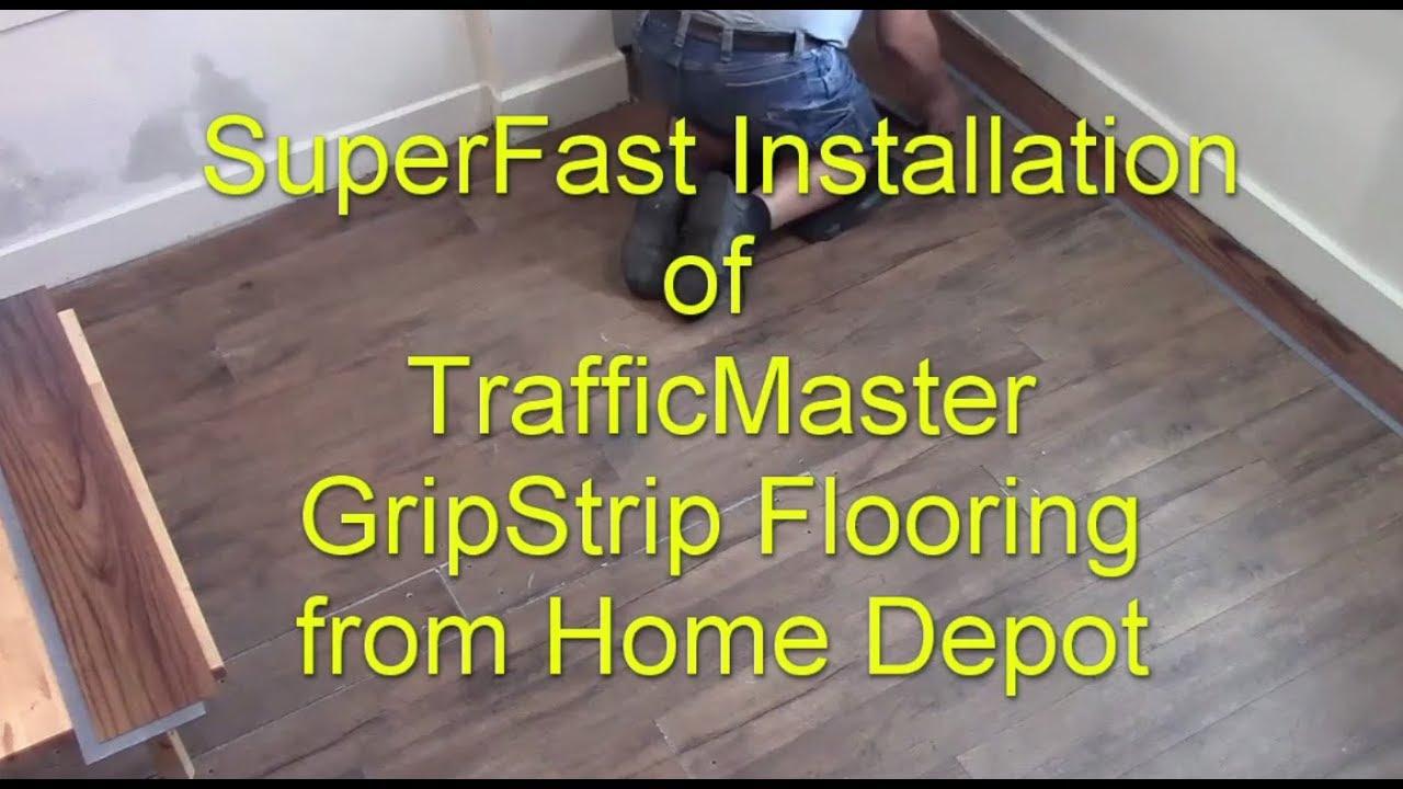 Trafficmaster Gripstrip Fast Installation Youtube