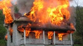 Farm House Burns to the Ground in Madison County NC. Demon faces in the fire.