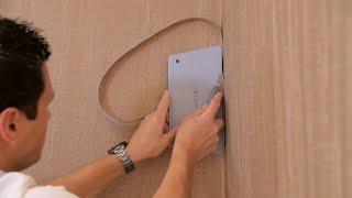 How to hang textile non-woven wallpaper