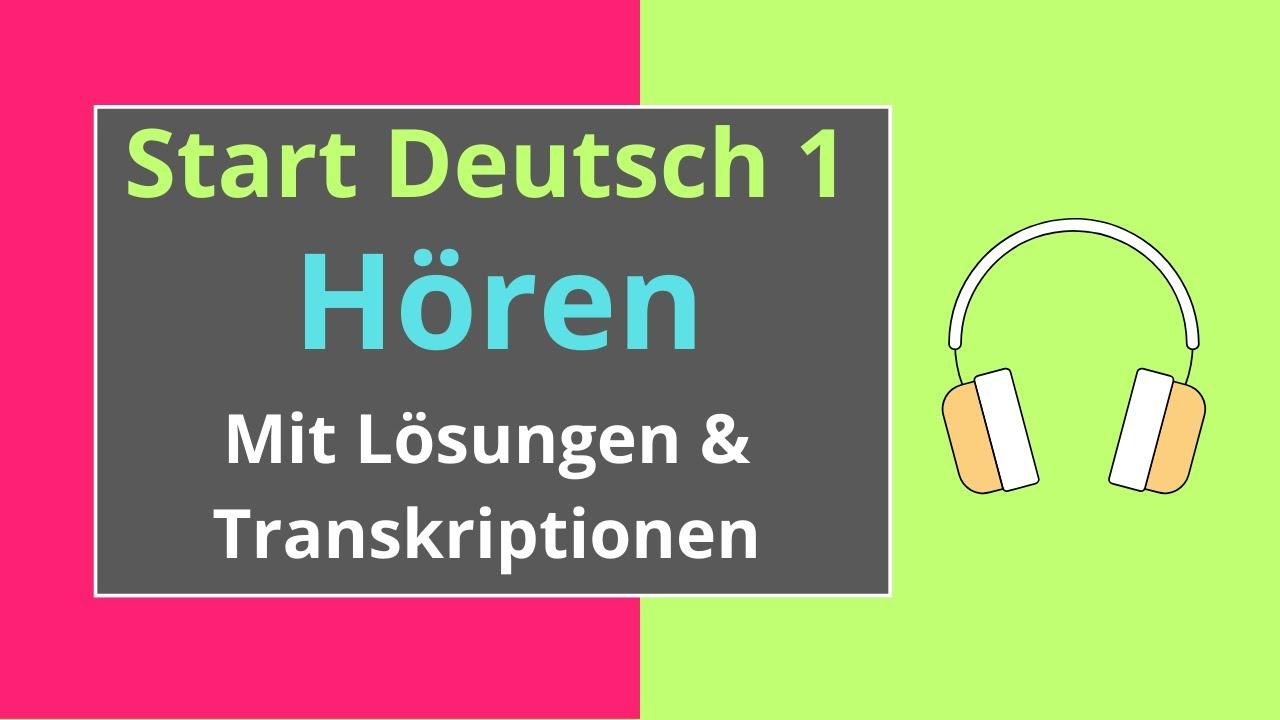 Hören A1 Start Deutsch 1   German Listening Exam A1 - YouTube
