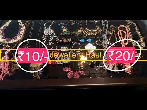Rs. 10 & Rs. 20 Sarojini Nagar Jewellery Haul || Try-on || Sana K