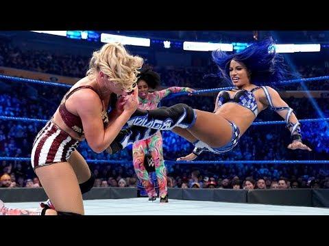 Bayley \u0026 Sasha Banks contre Naomi \u0026 Lacey Evans : SmackDown, 6 Mars 2020 VF