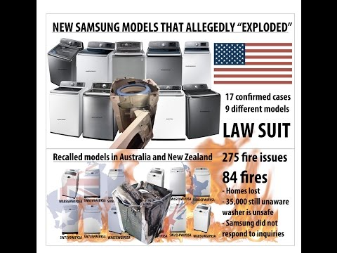 Samsung washing machine recall debacle and exploding washers - Australia, U.S. and NZ