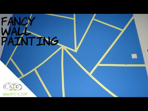 Triangle painted wall Design idea with Tape // How to // DIY