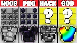 Minecraft Battle : EPIC ARMOR CRAFTING CHALLENGE - NOOB vs PRO vs HACKER vs GOD Minecraft Animation