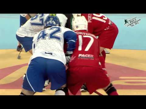 Greece vs Portugal 2015 World Ball Hockey Championships June 26 2015 in Zug, Switzerland