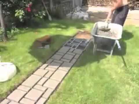 Видео канал:ЛАНДШАФТНЫЙ ДИЗАЙН,САД,ОГОРОД !!! Форма для садовой дорожки.