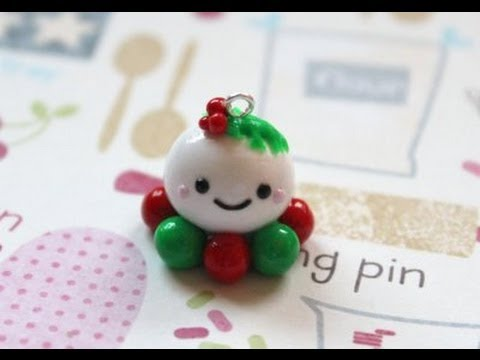Polymer Clay: Christmas Octopus Charm Tutorial - YouTube