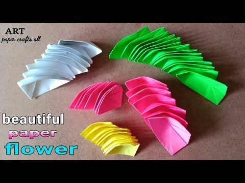how to make water flower // make a paper water lily