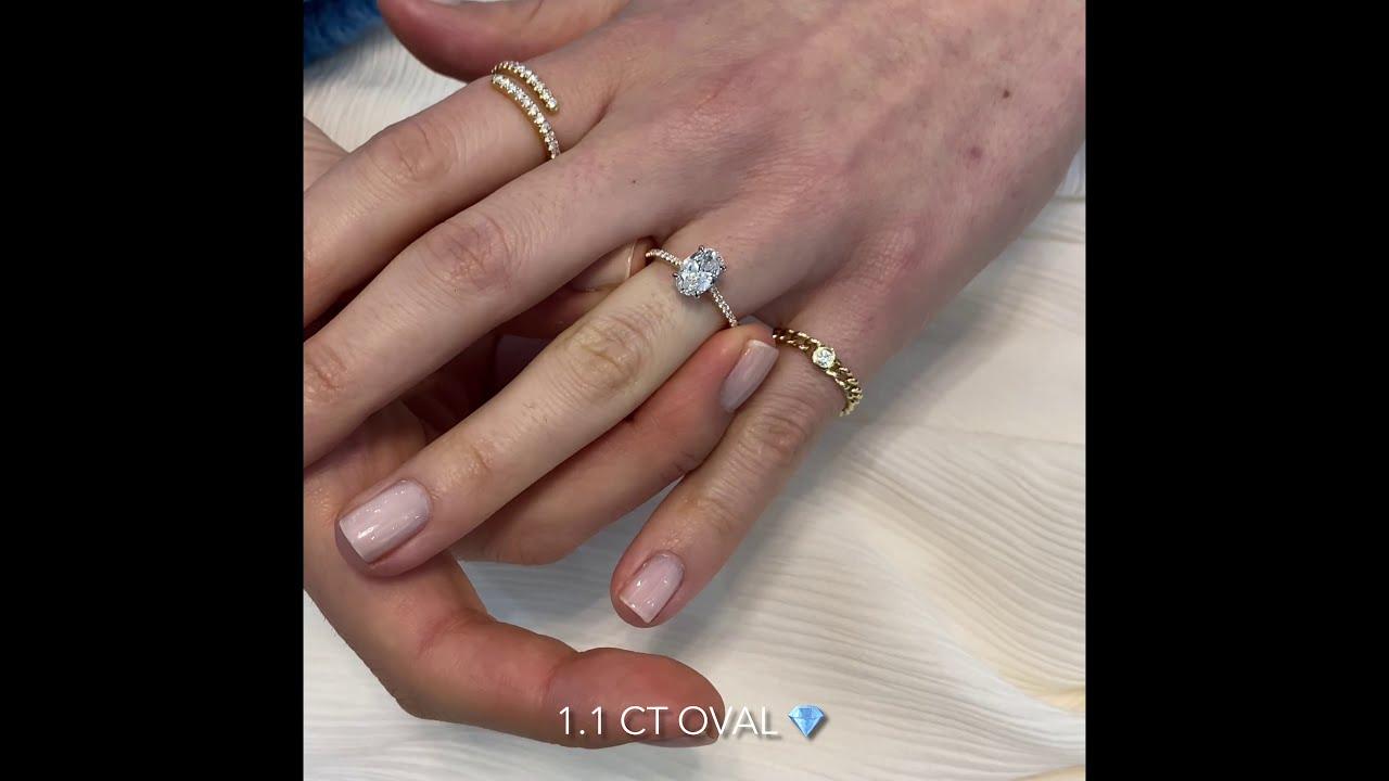 1.1 ct Oval Diamond Two-Tone Ring Design