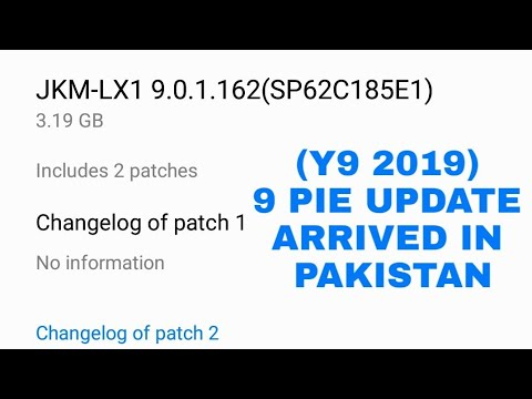 How to Get Android 9 Pie update in Huawei Y9 2019 (in Pakistan)