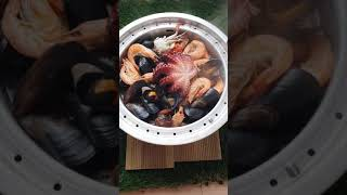 캠핑요리 캠핑음식 해물찜 홍합탕