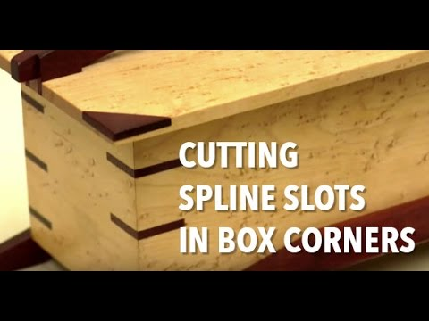 How to Cut Spline Slots in Mitered Corner Joints