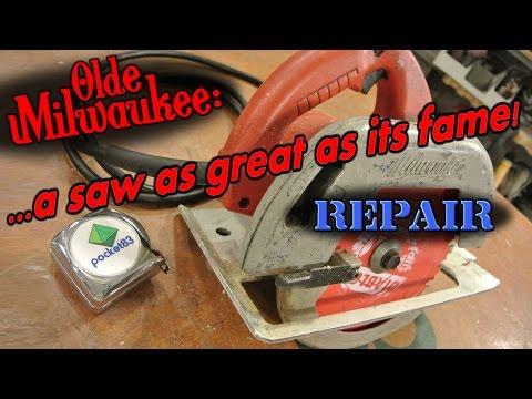 Breakdown and repair of the Milwaukee circular saw