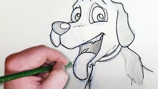 LEFT-HANDED CHALLENGE! - Drawing my PETS!
