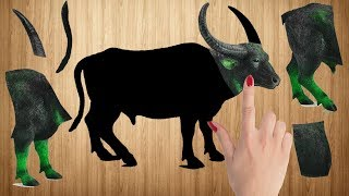 Learn Wild Animals Name and Sound for Kids – Animals Wrong Wooden Puzzles, Real Animals For Children
