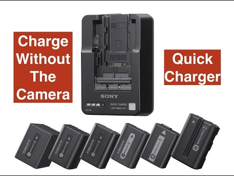 Charge your Sony batteries without the camcorder, Sony BC-QM1 battery  charger