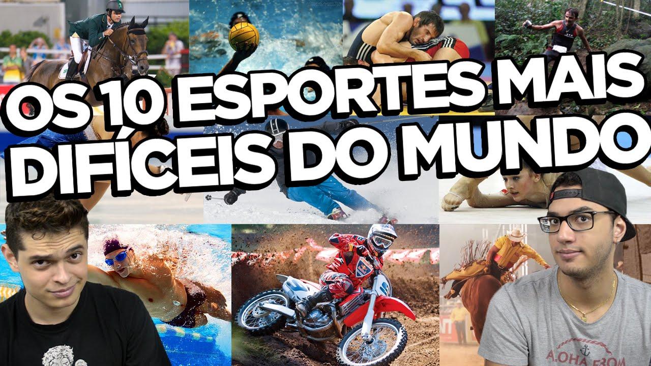 Os 10 esportes mais difíceis do mundo