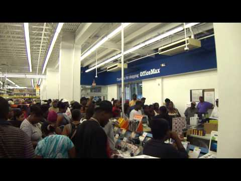 Black Friday In Office Max St. Thomas, Virgin Islands November 25th 2011