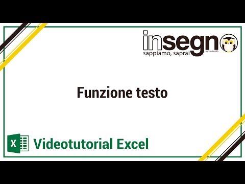 Excel funzione testo
