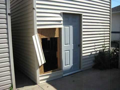12 39 x 20 39 2 story single door garage youtube for 12x8 garage door