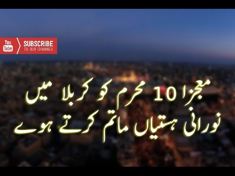 mojiza in karbala 10 muharram 2015 norrani hastiyaan matam kartay huway