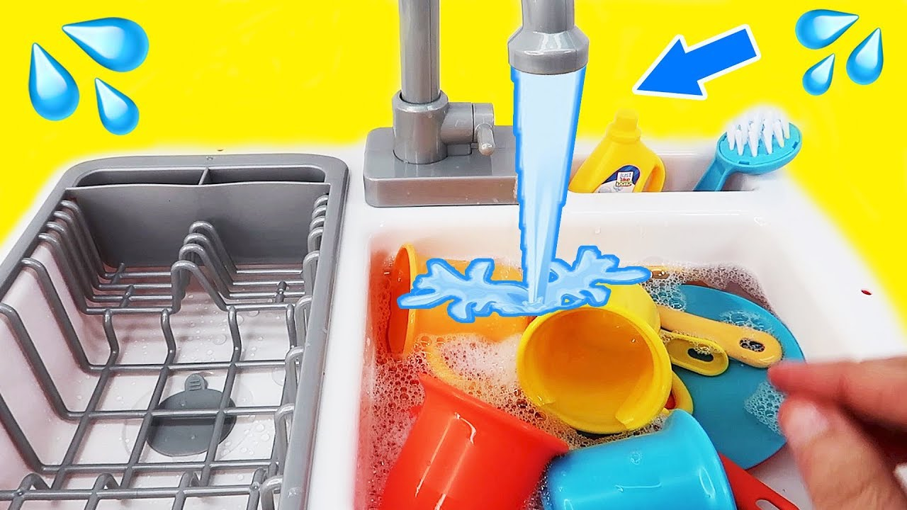 toy sink with running water kitchen playset with real working water faucet