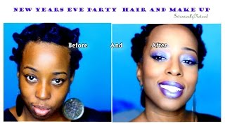 GRWM New years eve party hair and make up.