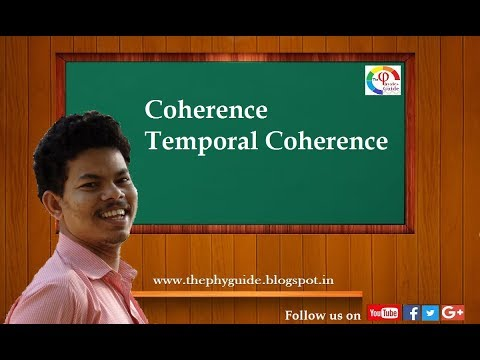 Coherence  Temporal Coherence