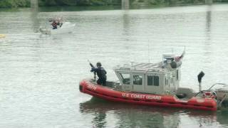 KAYAK vs MACHINE GUN! US Coast Guard protecting Navy Ship with heavy fire power Portland OR
