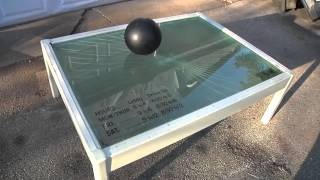 Bowling Ball vs Bullet-Proof Glass