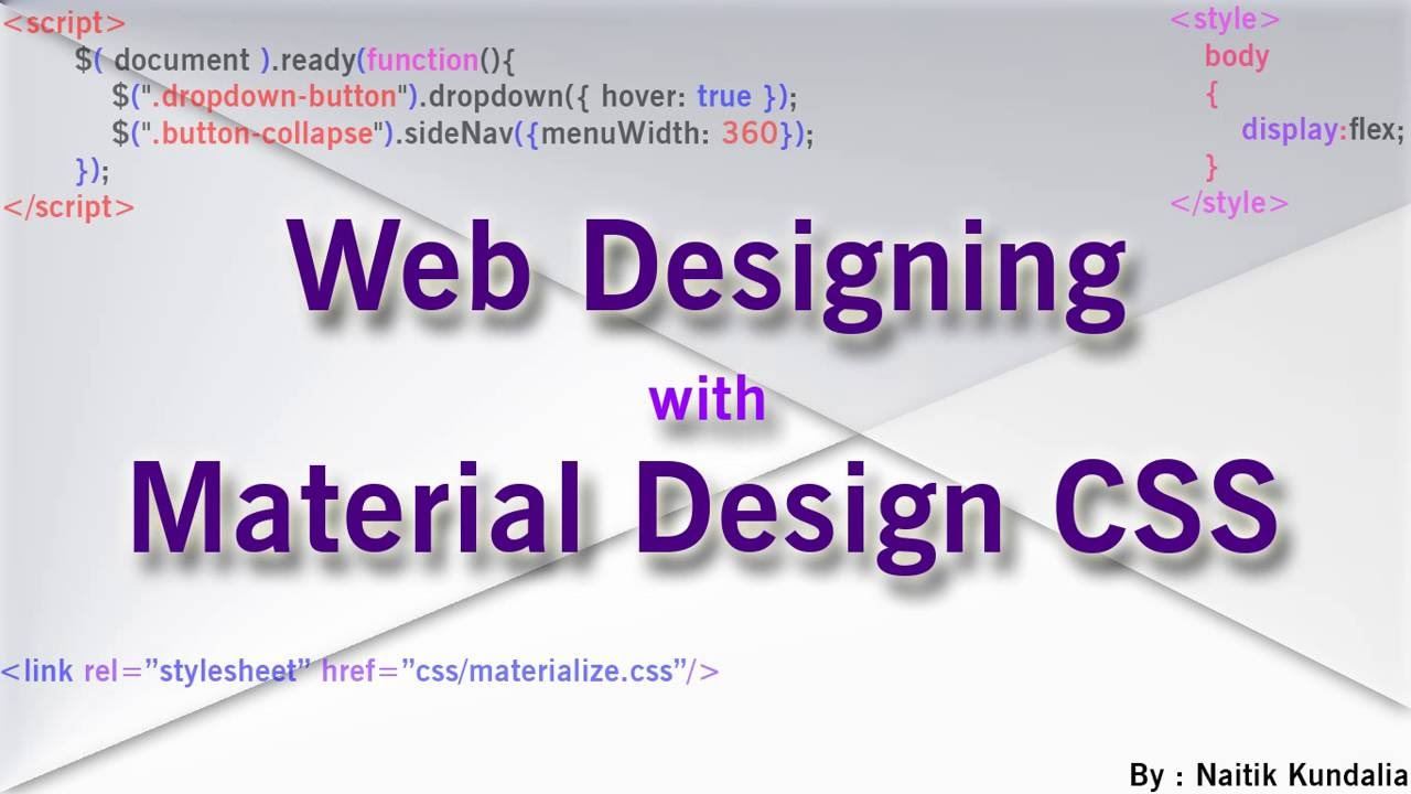 Tutorial : Create Materialize CSS Menu(Direct Link) for Webpage