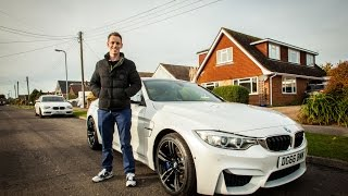 Winner David Golding collects his BMW M4