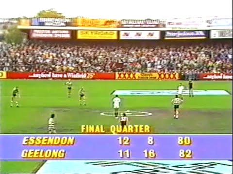 1987 Vfl Rd 6 Essendon V Geelong Windy Hill Youtube