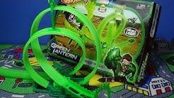 Hot Wheels Green Lantern Energy Track Set Double Loops!