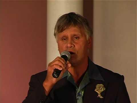 Charlie Davis singing in the NZ 50 Plus Karaoke Championships 2009
