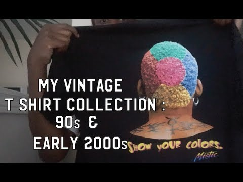 MY VINTAGE 90S & EARLY 00s T-SHIRT COLLECTION! from YouTube · Duration:  8 minutes 51 seconds