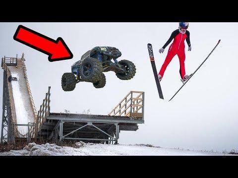 HUGE RC CAR VS OLYMPIC SKI JUMP!! (NOT CLICKBAIT)