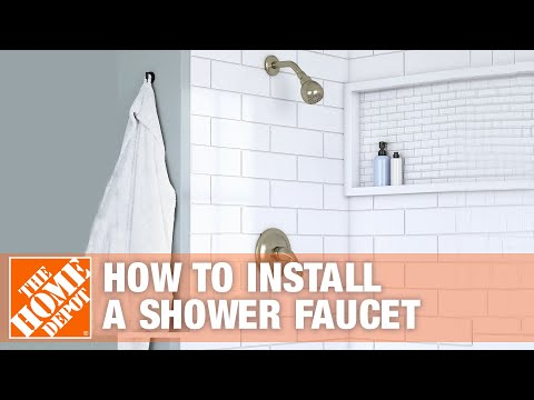 how-to-install-a-shower-faucet-|-the-home-depot