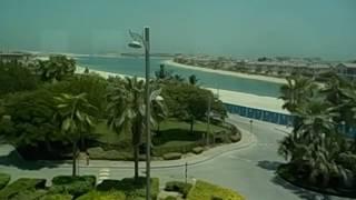 Emiratos Arabes Unidos  UAE  Dubai  Monorail  Atlantis Jumeirah palm tree island views  2016