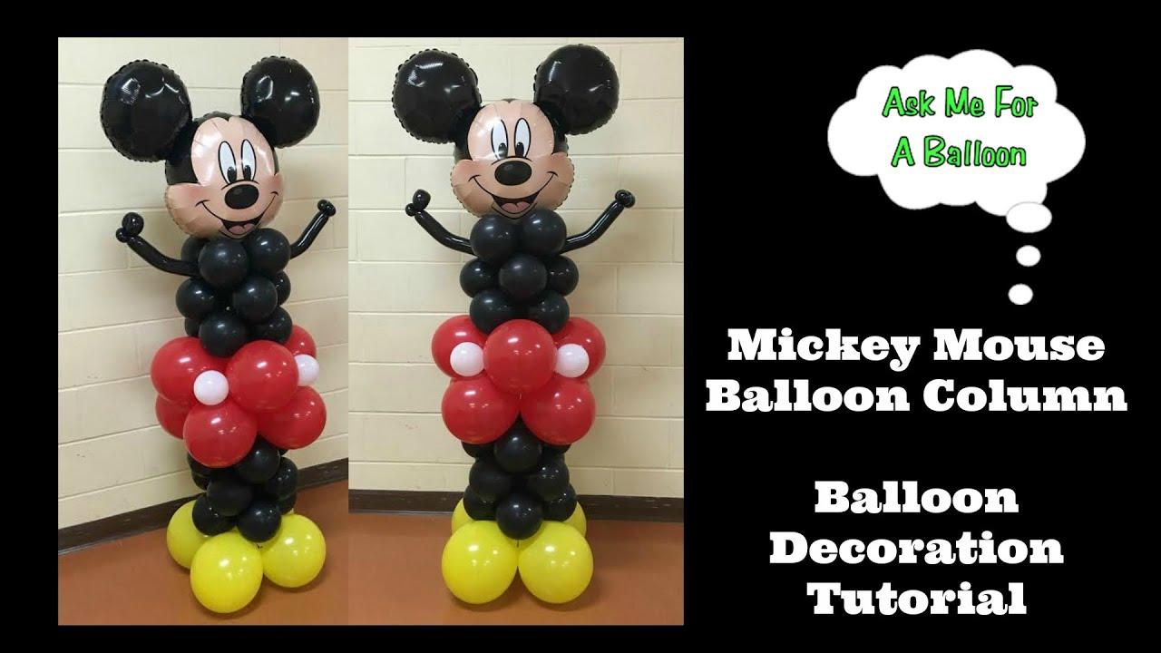 Mickey Mouse Balloon Column Tutorial - YouTube