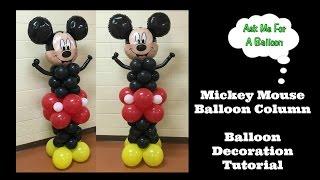 Mickey Mouse Balloon Column Tutorial