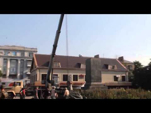 В Артёмовске демонтировали памятник Артему