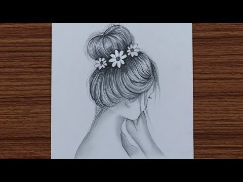 how-to-draw-easy-girl-with-bun-hair---step-by-step
